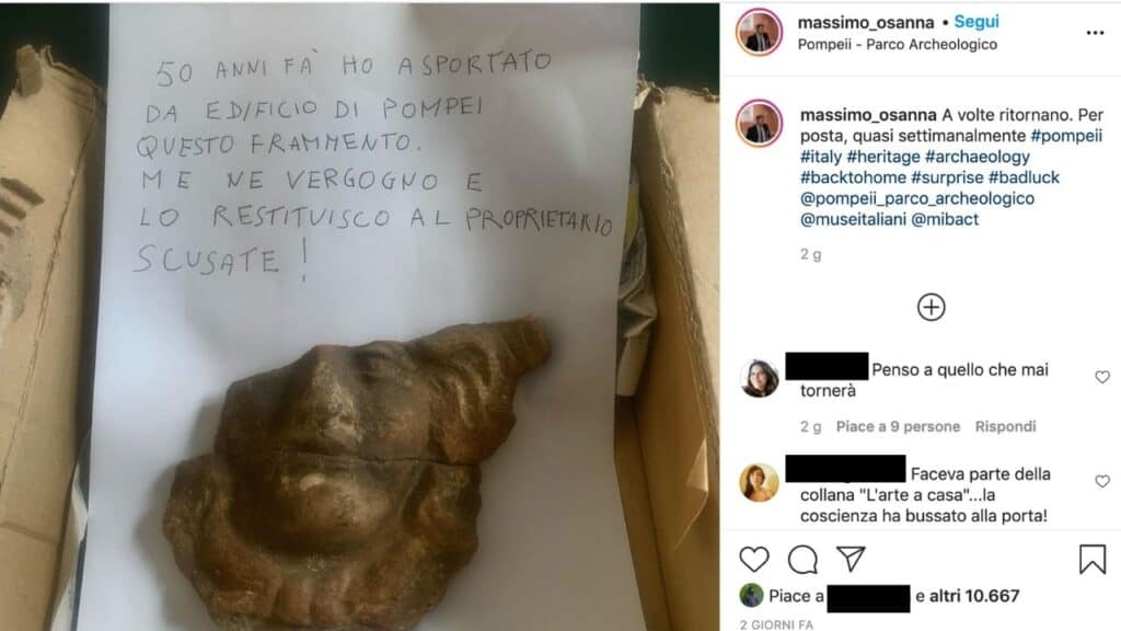 reperto pompei post instagram