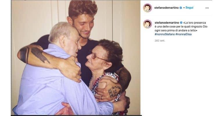 Stefano De Martino assieme a nonna Elisa