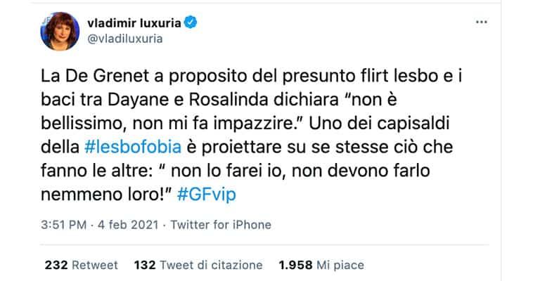 tweet di Vladimir Luxuria