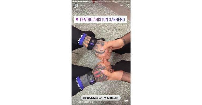 Fedez Mani Francesca Michielin