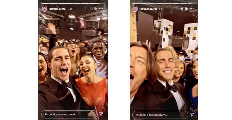 Instagram story di Tommaso Zorzi