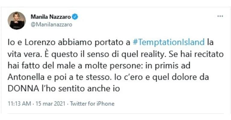 Manila Nazzaro Tweet
