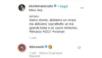 Nicole Mazzocato Salmo Instagram