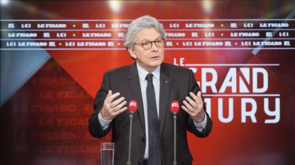 Thierry Breton, Commissario europeo per il Mercato Interno. Fonte: Rtl
