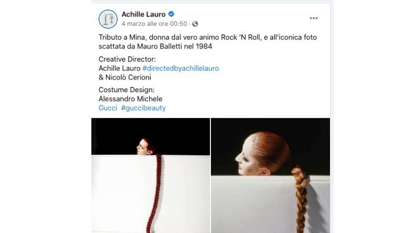 Il tributo di Achille Lauro a Mina