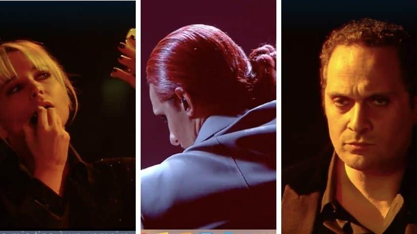 La performance di Achille Lauro alla seconda serata del Festival di Sanremo