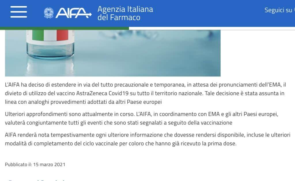 Comunicato Aifa