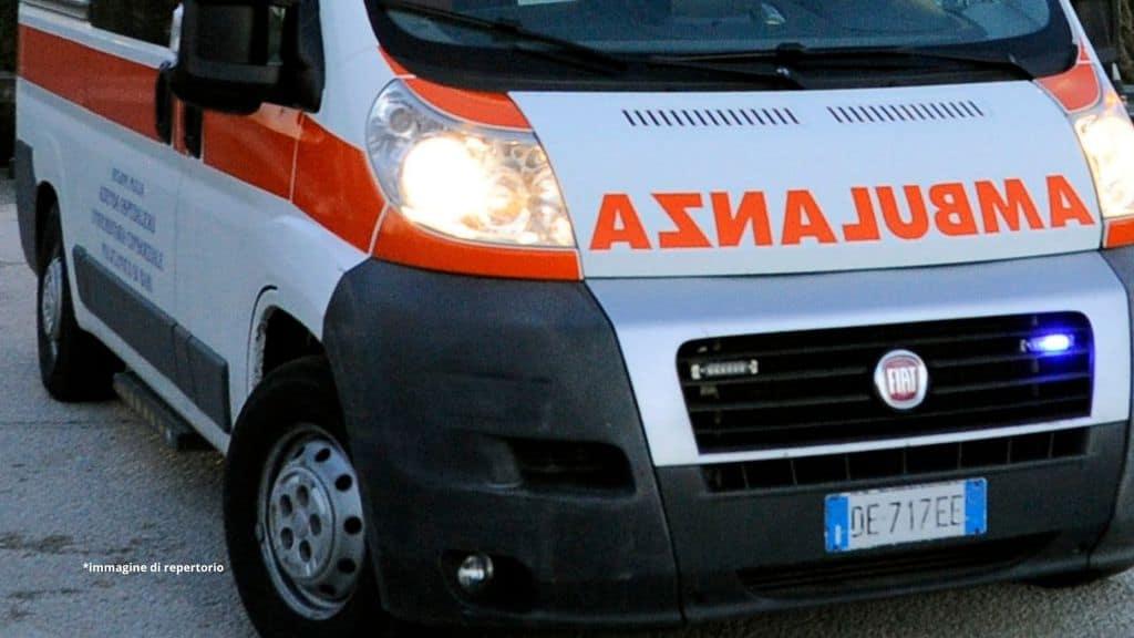 ambulanza ustioni bimbo