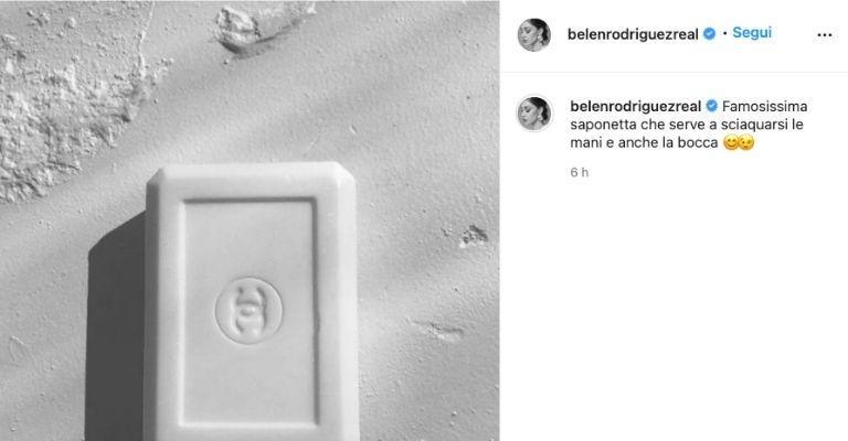 belen saponetta su instagram