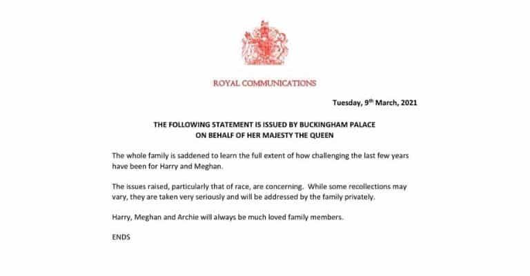 comunicato della regina