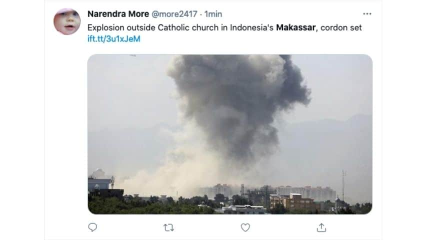 esplosione in una chiesa in indonesia