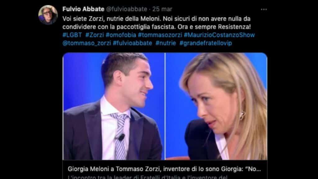 Fulvio Abbate e il commento dopo il Maurizio Costanzo Show