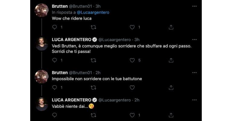 I tweet di Luca Argentero su Sanremo
