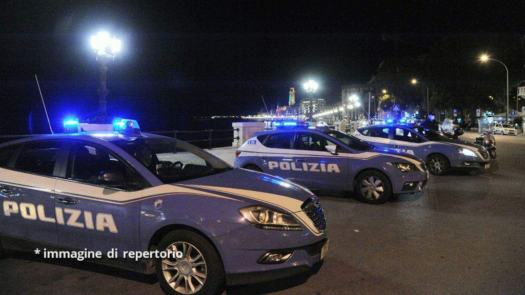 macchine polizia festa abusiva caserta