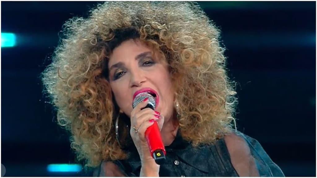 Marcella Bella sul palco del Festival di Sanremo