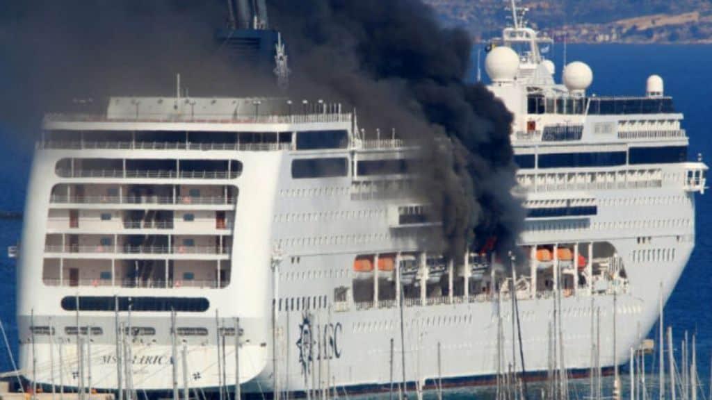 msc lirica incendio a bordo