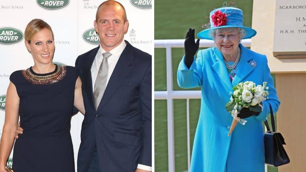La regina Elisabetta, Zara e Mike Tindall