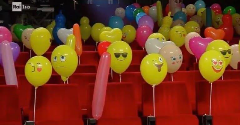 palloncini in platea a sanremo