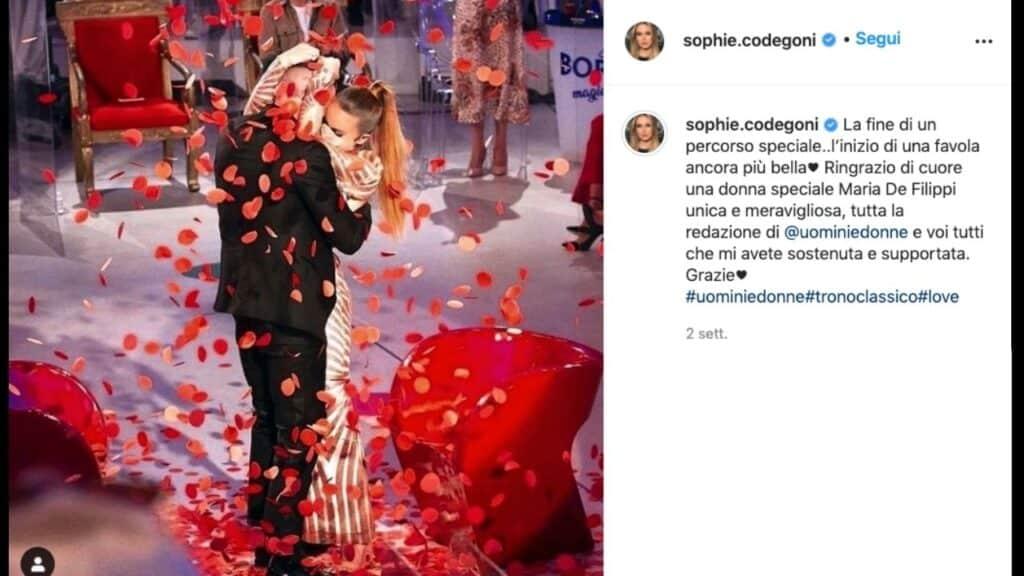 Sophie Codegoni, discussioni con Matteo dopo la scelta a Uomini e Donne: la confessione dell'ex tronista Sophie