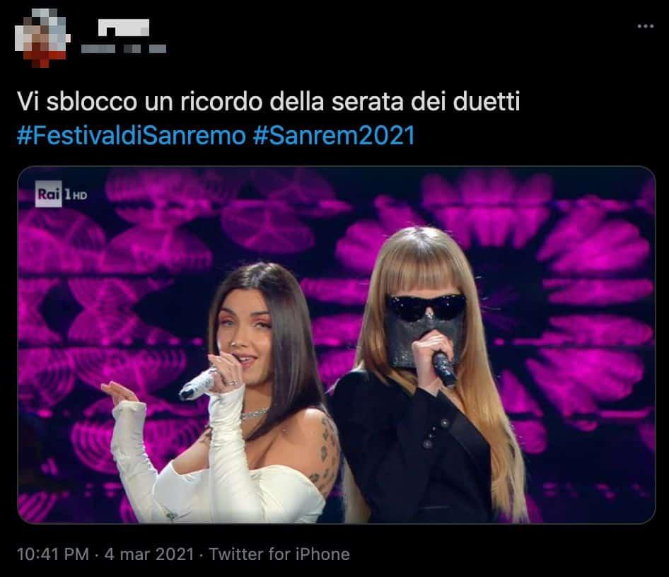 Un tweet sul duetto di Myss Keta ed Elettra Lamborghini