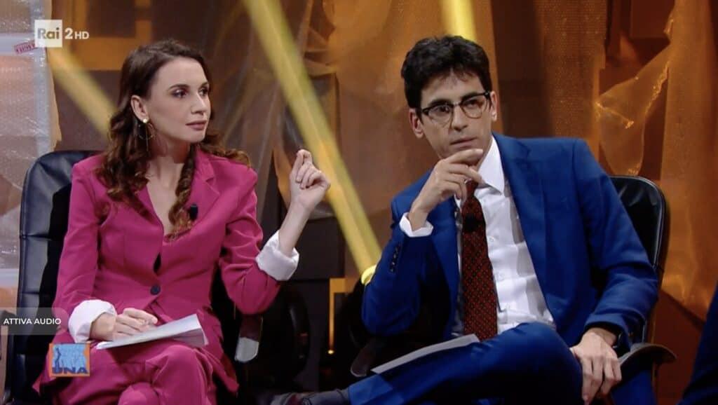 Emanuela Fanelli e Valerio Lundini a Una pezza di Lundini