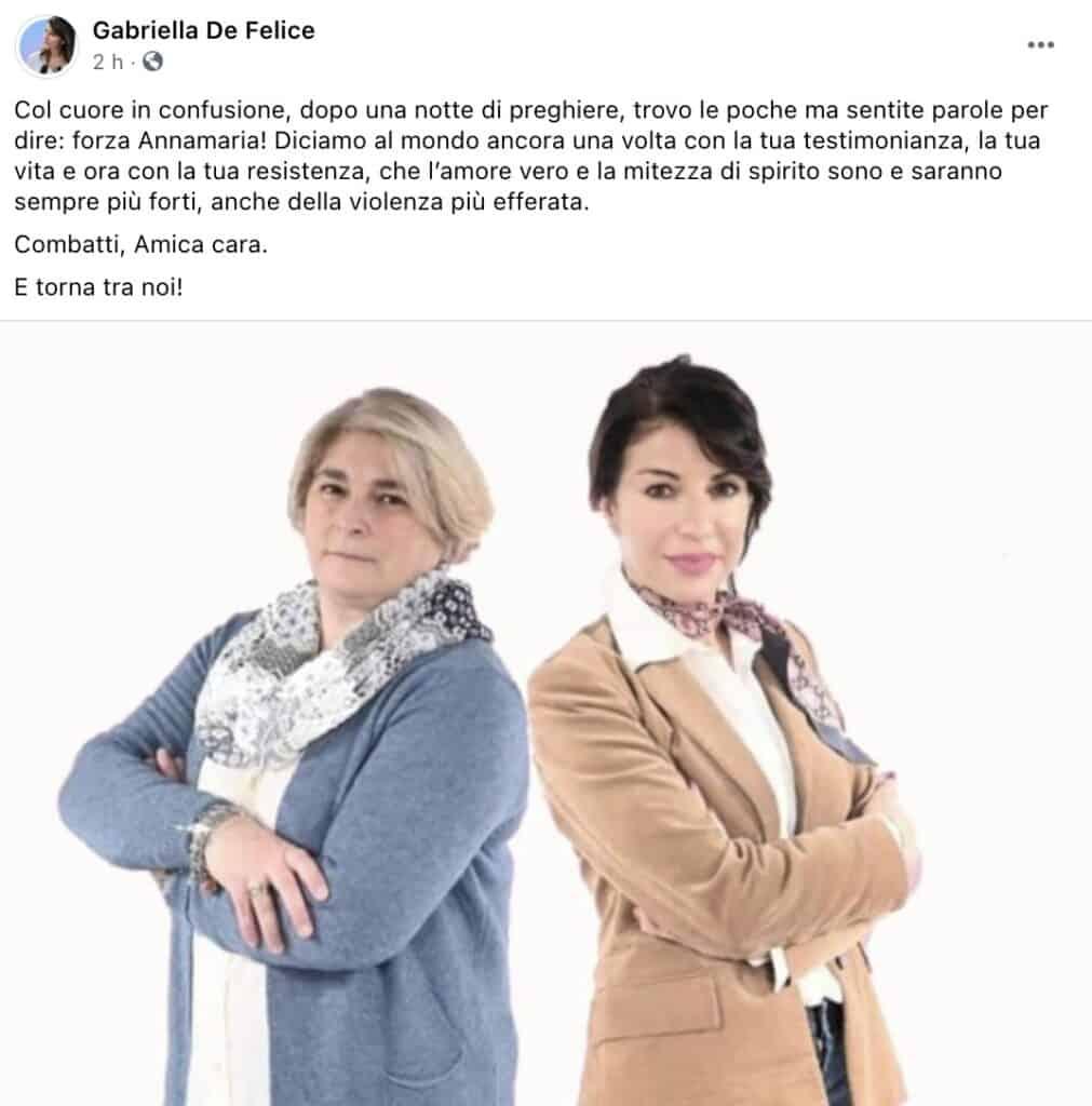 Il post di Gabriella De Felice