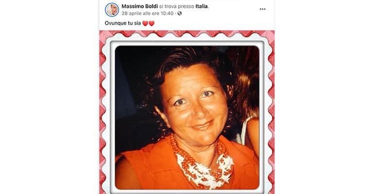 Post di Massimo Boldi su Facebook