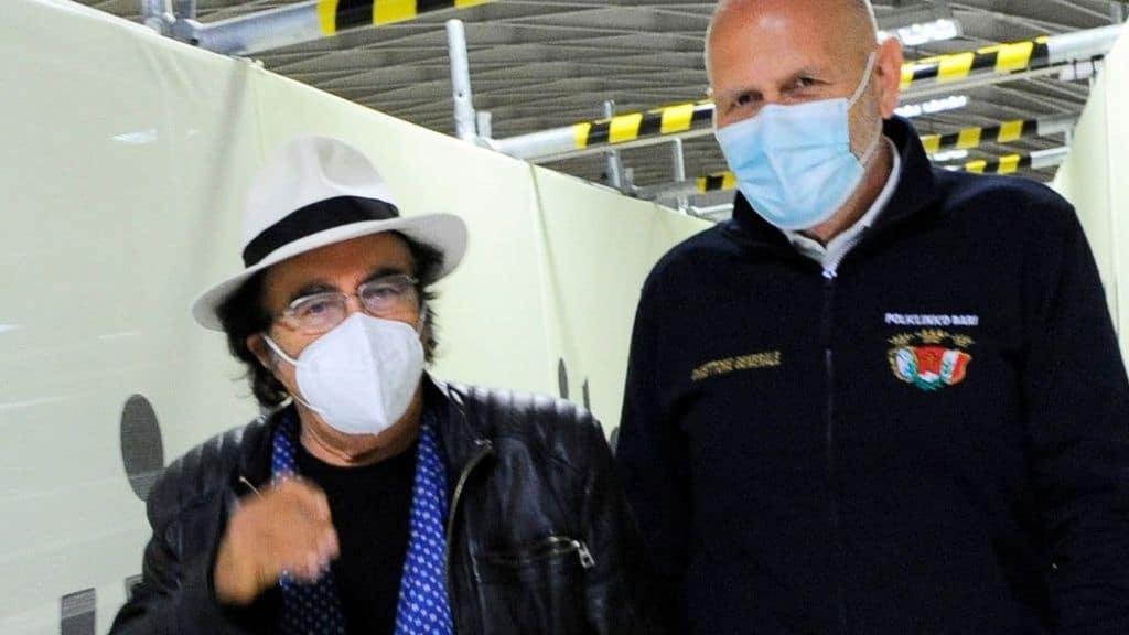 Al Bano visita a sorpresa i pazienti dell'ospedale Covid, la reazione: