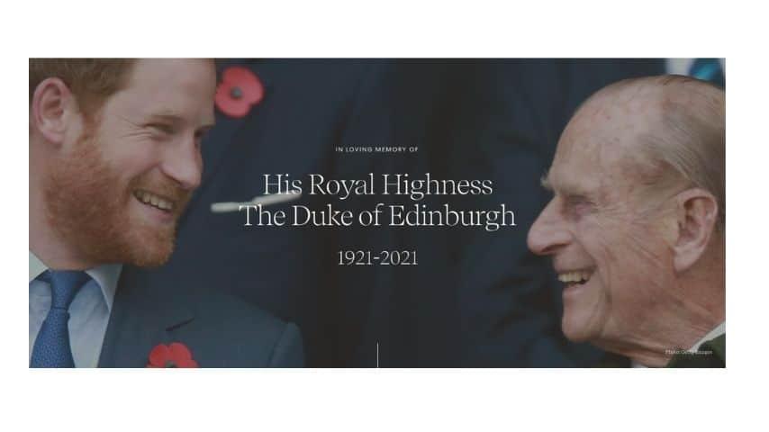 La nuova homepage del sito di Archwell la fondazione di Harry e Meghan