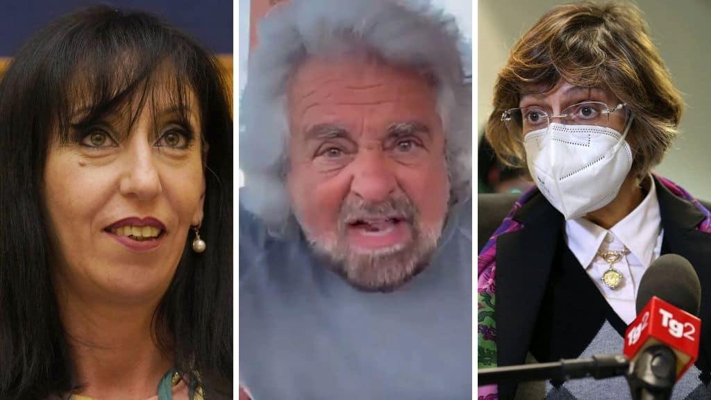Anna Macina, Beppe Grillo e Giulia Bongiorno