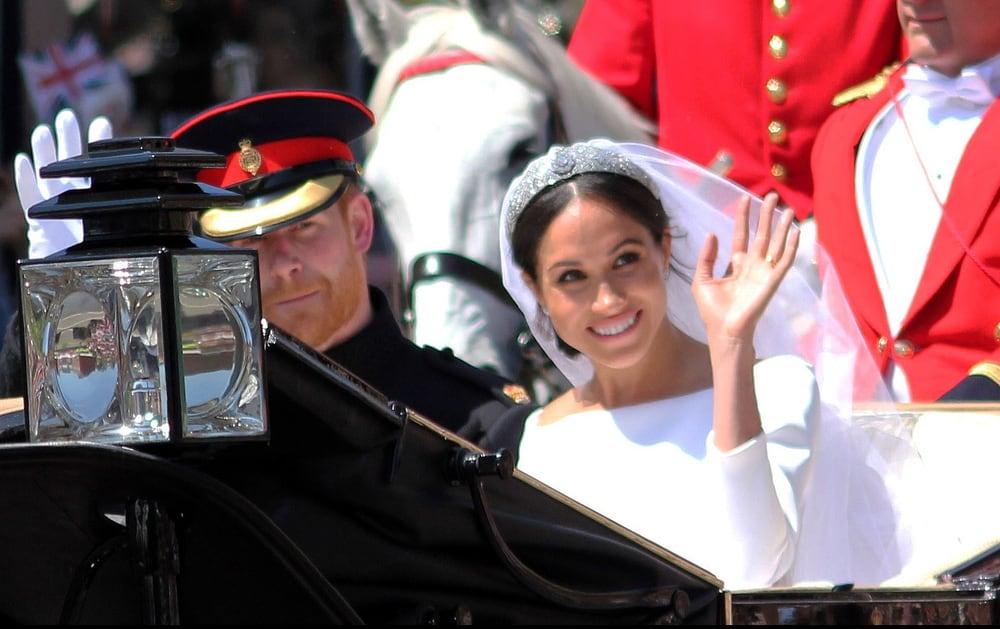 Herry e Meghan in carrozza il giorno del matrimonio