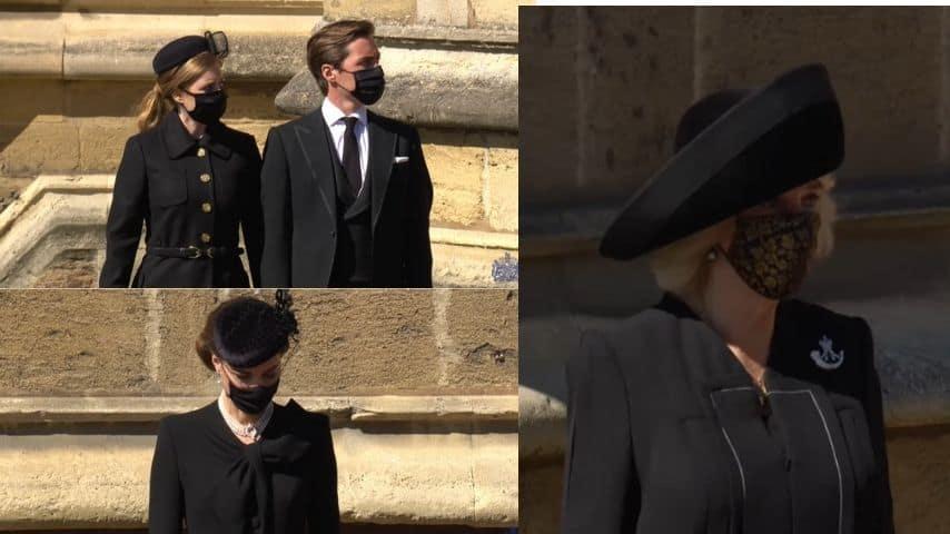 Kate, Beatrice e Camilla in attesa del feretro di Filippo