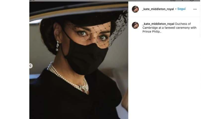 Kate Middleton al funerale del principe Filippo
