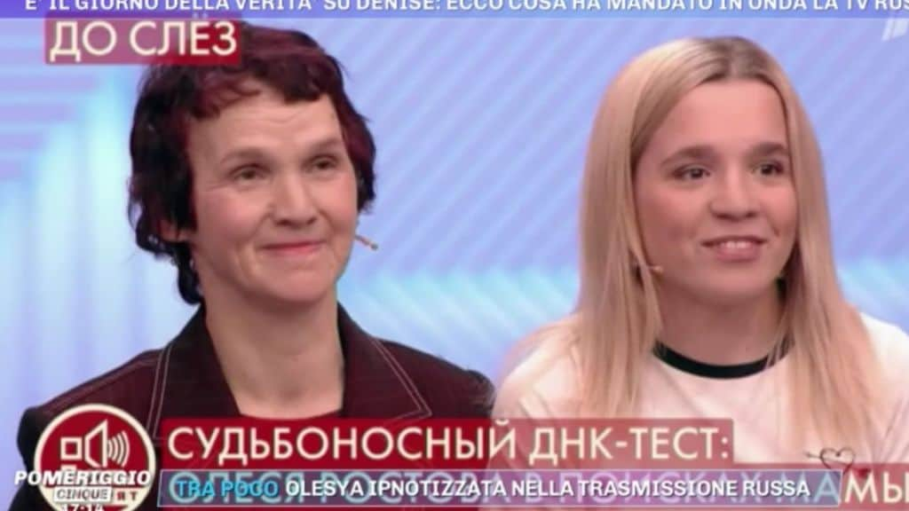 Olesya Rostova in studio in tv