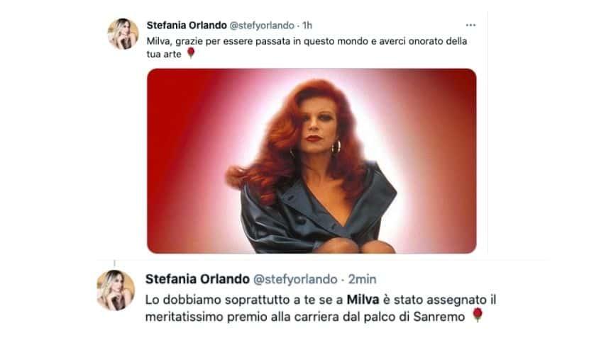 Il Tweet di Stefania Orlando