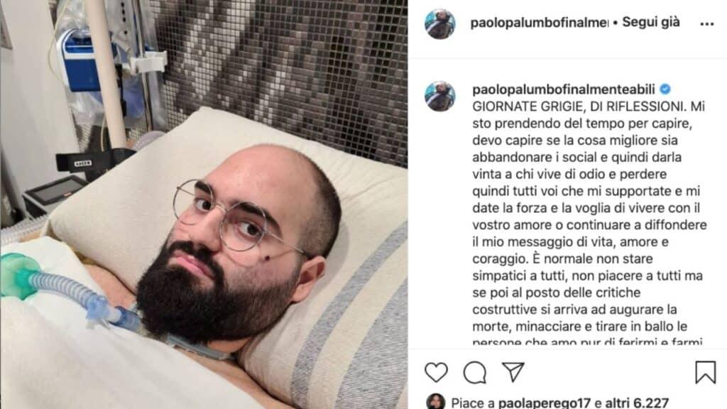 Paolo Palumbo, minacce di morte sui social all'artista affetto da SLA: