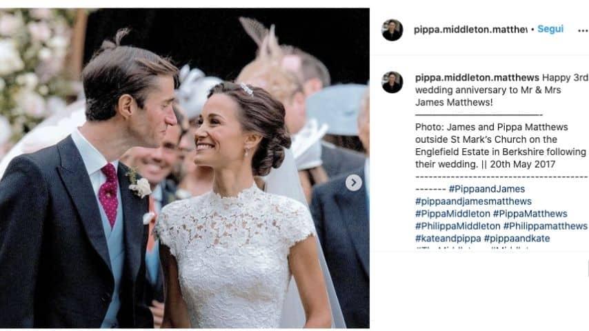 Pippa Middleton nel giorno del matrimonio con James Matthews