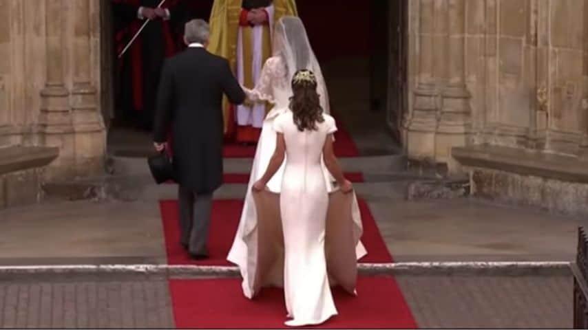Pippa Middleton al matrimonio della sorella Kate come damigella
