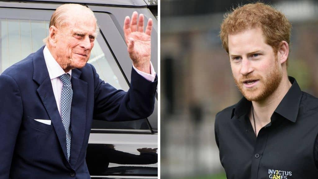 Il principe Harry e il Principe Filippo