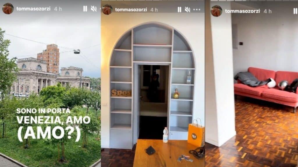 Tommaso Zorzi cavalca il successo in tv e si trasferisce: le foto della nuova casa in centro a Milano
