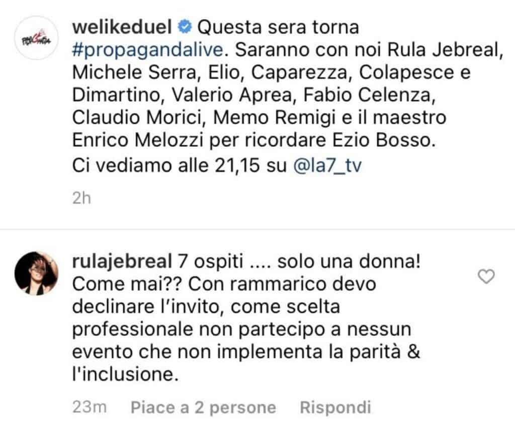 Il commento di Rula Jebreal