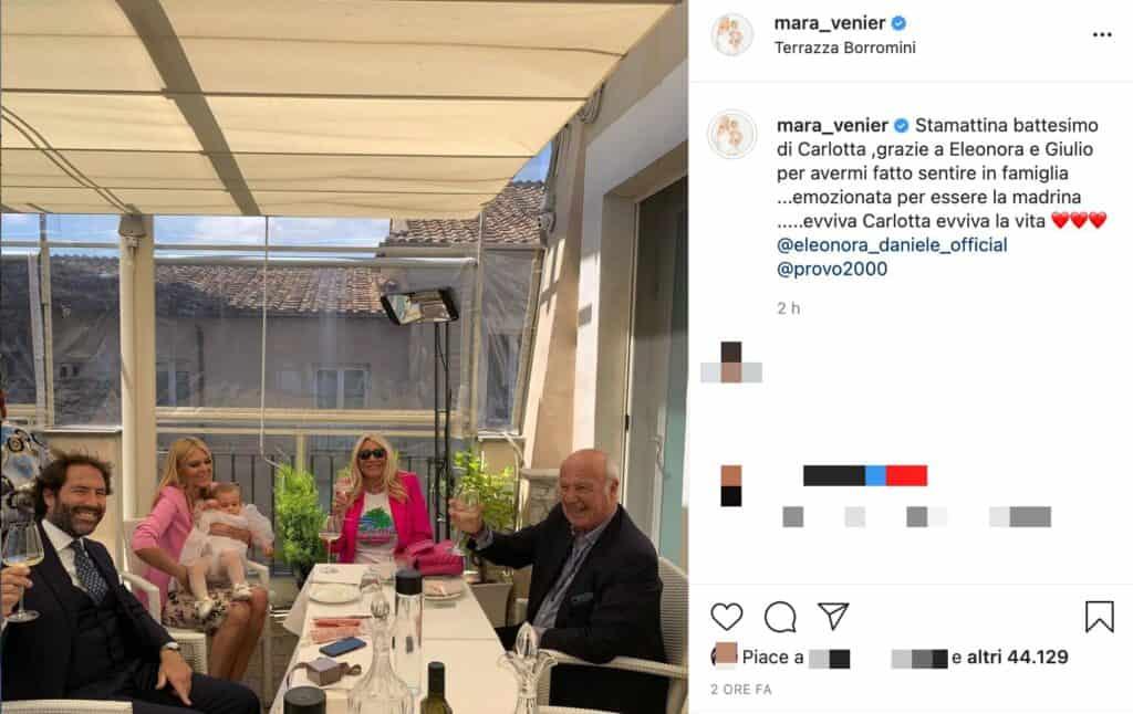 Il post Instagram di Mara Venier