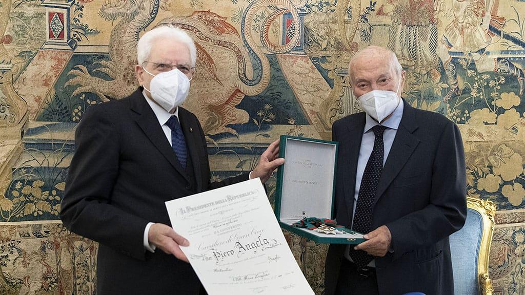 Piero Angela nominato Cavaliere da Sergio Mattarella