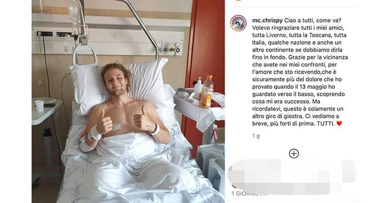 Post Instagram di Christian Volpi