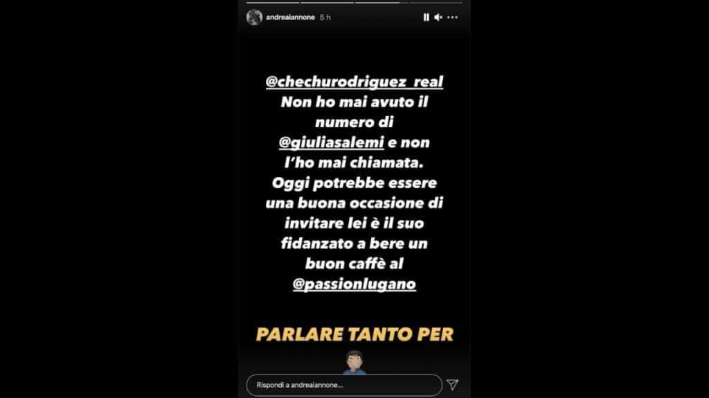 Andrea Iannone perde le staffe con Cecilia Rodriguez dopo Il Punto Z: c'entra Giulia Salemi, lo sfogo su Instagram