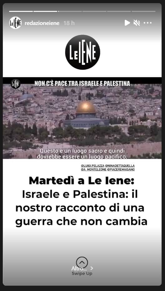 Anticipazioni le Iene 18 maggio 2021: il racconto della lotta tra palestinesi e israeliani