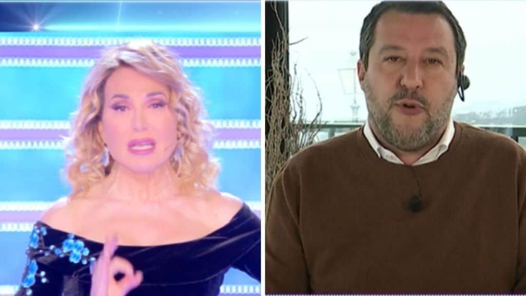 Barbara d'Urso e Matteo Salvini a Domenica Live