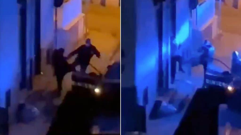 video del carabiniere che prende a calci un ragazzo a napoli