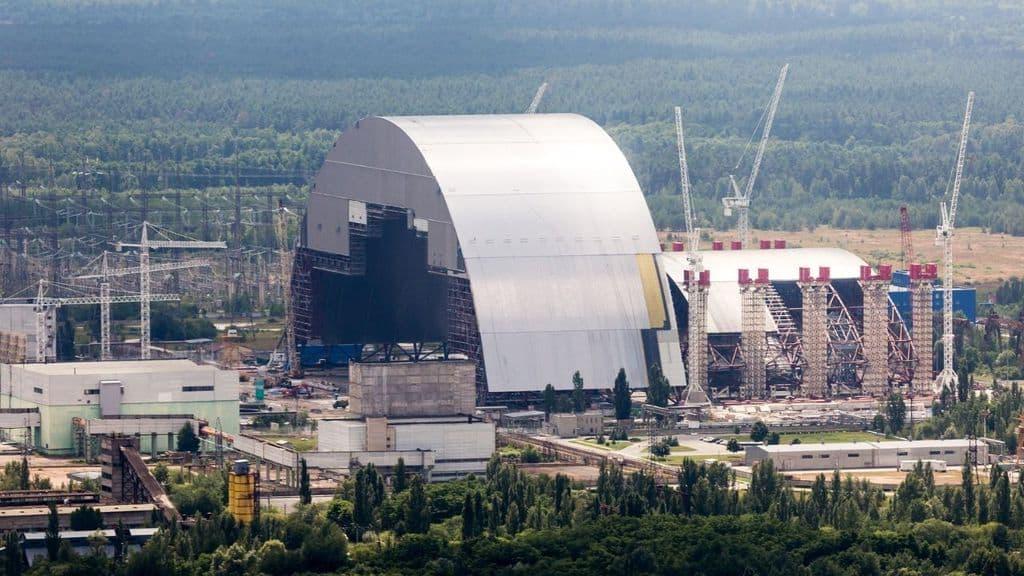 Il New Safe Confinement che ricopre il reattore di Chernobyl