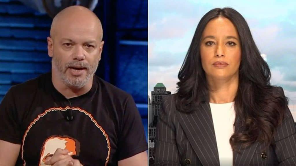 diego bianchi e Rula Jebreal su propaganda live